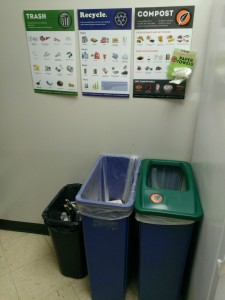break room trash station