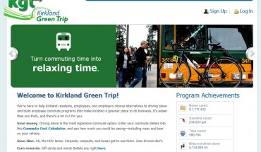 screenshot of Kirkland Green Trip website