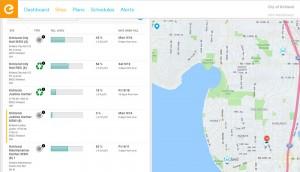 Screenshot of Enevo website