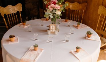 Zero waste wedding table