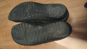 Worn out shoe soles