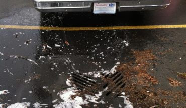 soap from a mobile business entering storm drain